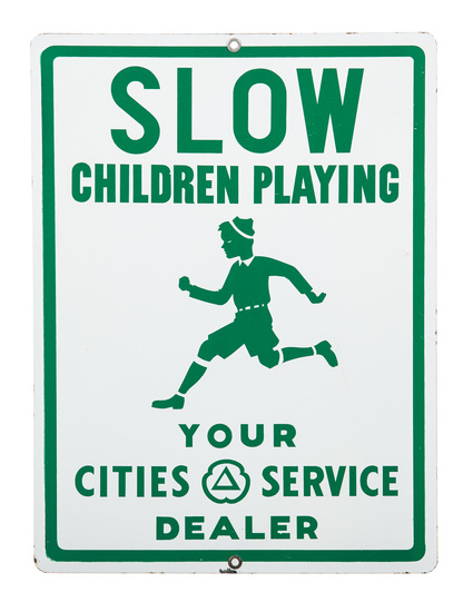 Cities Service Slow Children Playing Sign