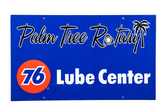 Palm Tree Rotary Union 76 Lube Center Sign