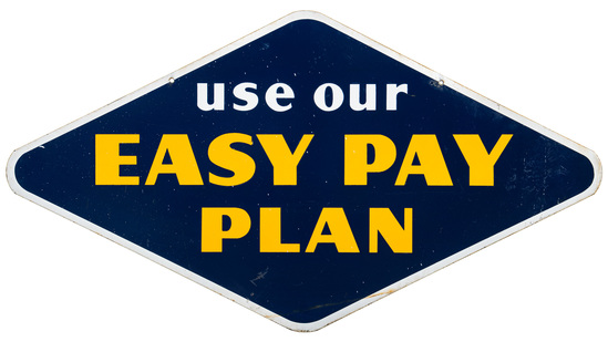 Goodyear Use Our Easy Pay Plan Hanging Sign