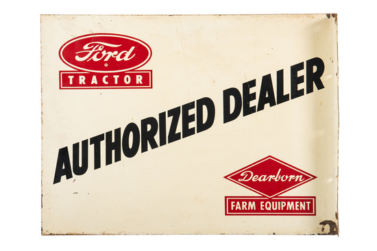 Ford Tractor Authorized Dealer Flange Sign