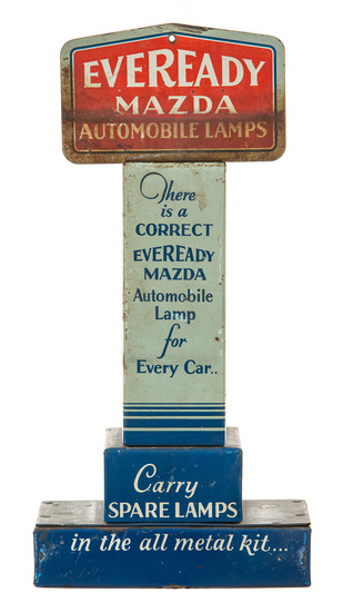Eveready Mazda Automobile Lamps Counter Display