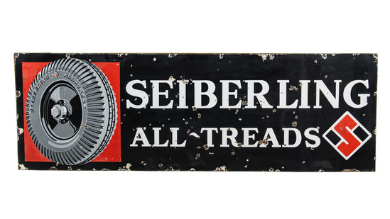 Seiberling All-tread Tires Horizontal Sign