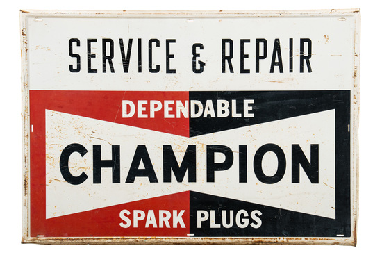 Champion Spark Plugs Service & Repair Sign