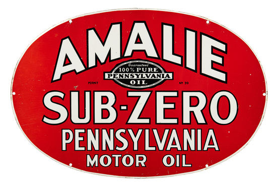 Amalie Sub-zero Motor Oil Oval Sign