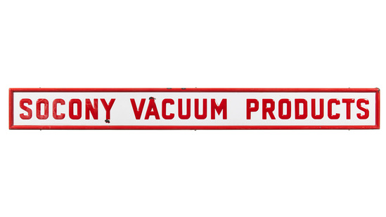 Socony Vacuum Products Horizontal Sign
