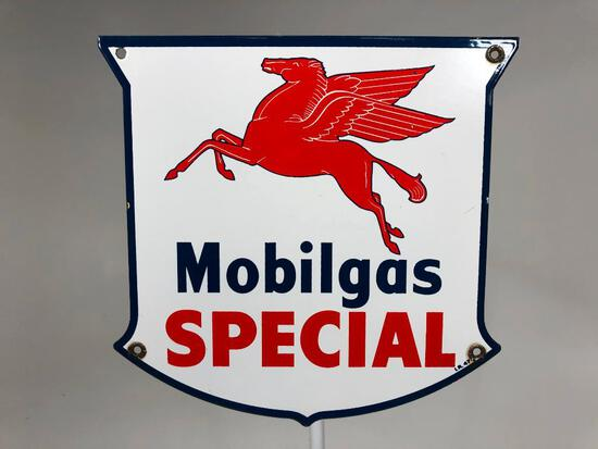 Mobil Special Gas Pump Plate