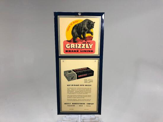 Grizzly Brake Lining Sign