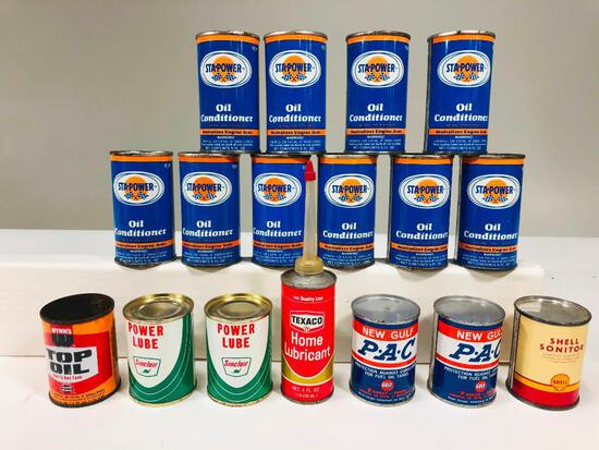 Lot of 17 various small automotive tins