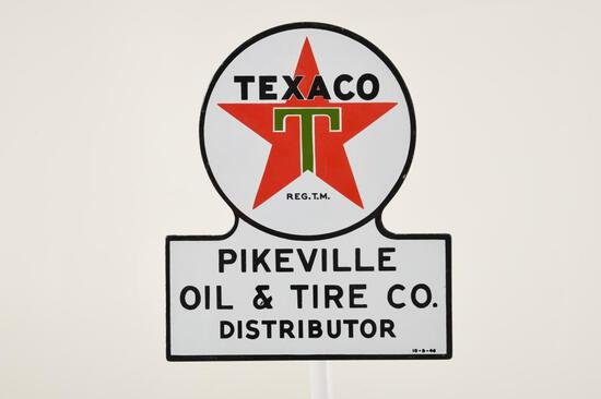 Texaco Distributor Keyhole Sign