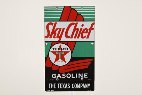 Texaco Sky Chief With Privilege Panel Gas Pump Plate