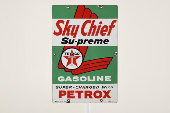 "Texaco Sky Chief Su-preme 15""X10"" Gas Pump Plate"