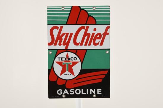 "Texaco Sky Chief 12""X8"" Gas Pump Plate"