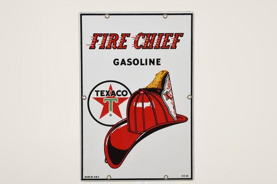 "Texaco Fire Chief 15""X10"" Gas Pump Plate"