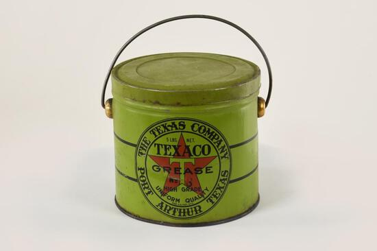 Early Texaco Port Arthur 5 Lb Grease Tin