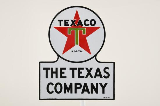 The Texas Company Keyhole Sign