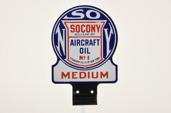 Socony Aircraft Oil Paddle Sign