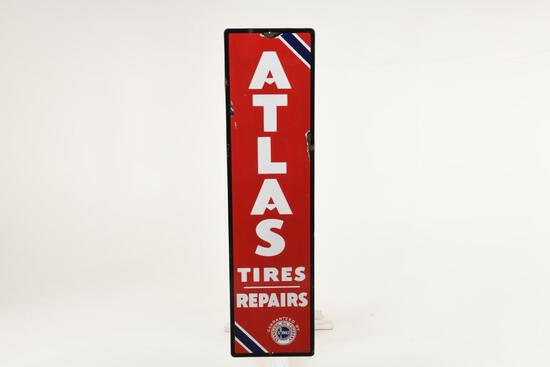 Self Framed Atlas Standard Oil Tires Repairs Sign