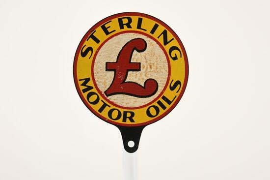 Sterling Motor Oil Paddle Sign