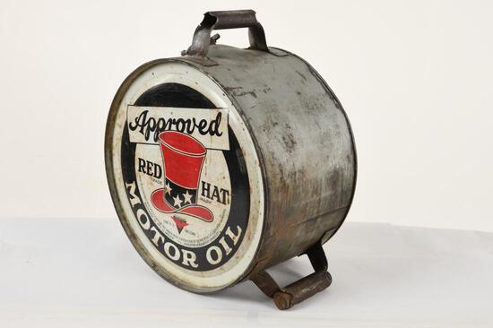 Red Hat Rocker Oil Can