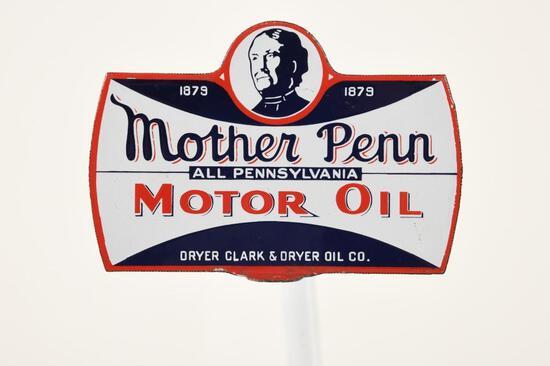 Mother Penn Motor Oil Paddle Sign