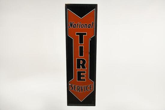 Framed National Tire Service Sign