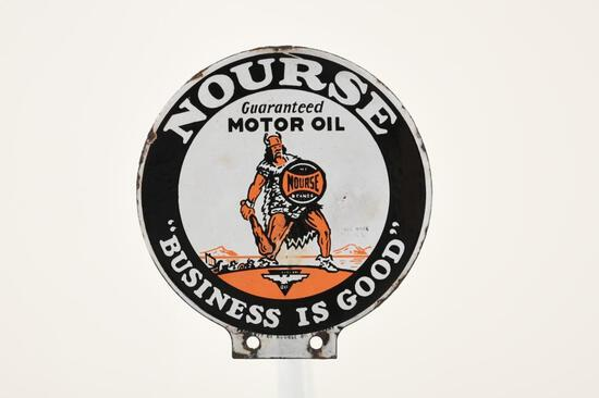 Rare Nourse Motor Oil Paddle Sign