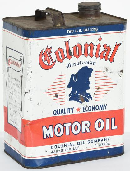 Colonial motor Oil 2 Gallon Can
