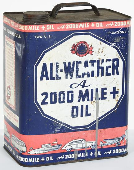All-Weather 2000 Mile + Oil 2 Gallon Can