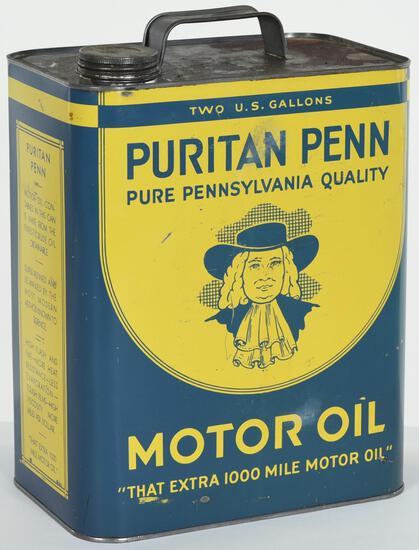 Puritan Penn Motor Oil 2 Gallon Can
