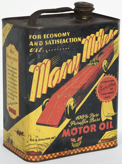 Many Miles Motor Oil 2 Gallon Can