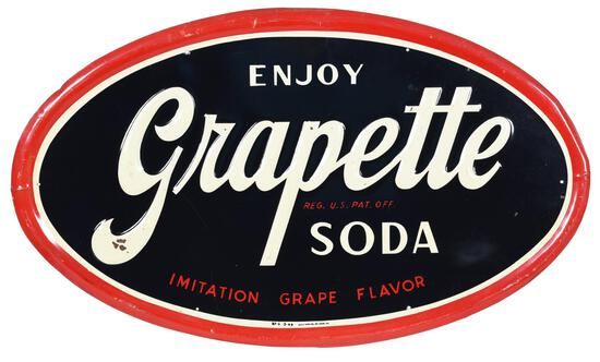 Enjoy Grapette Soda Metal Sign