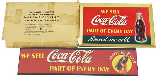 """We Sell Coca-Cola """"Part of Every Day"""" w/Bottle Sign"""