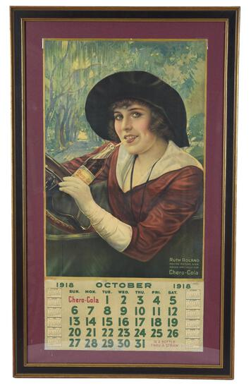1918 Chero-Cola w/Ruth Roland Movie Star Calendar