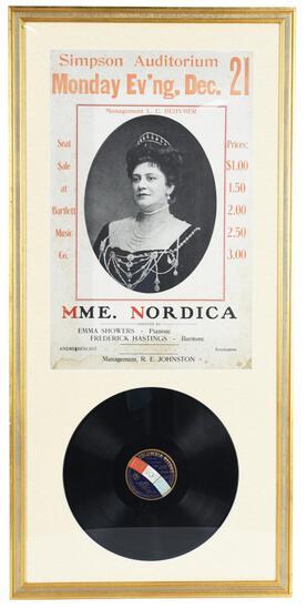 MME. Nordica Frame Concert Poster & LP