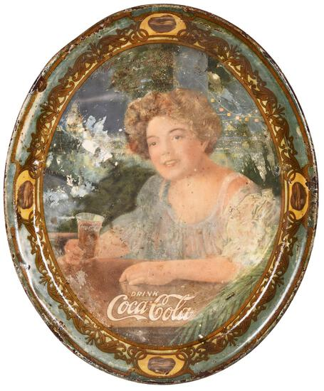 """1909 Coca-Cola """"Medium Oval"""" Tray"""
