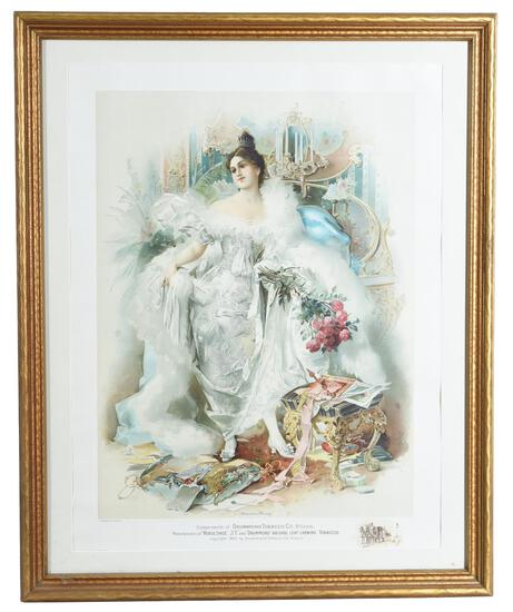 """Drummond Tobacco Co. St. Louis """"American Beauty"""" Print"""