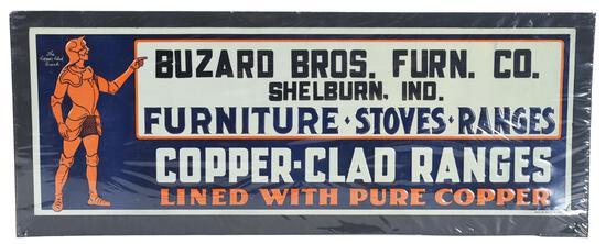 Copper-Clad Ranges w/Logo Metal Sign
