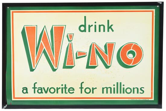 """Drink Wi-No """"a favorite for millions"""" Metal Sign"""