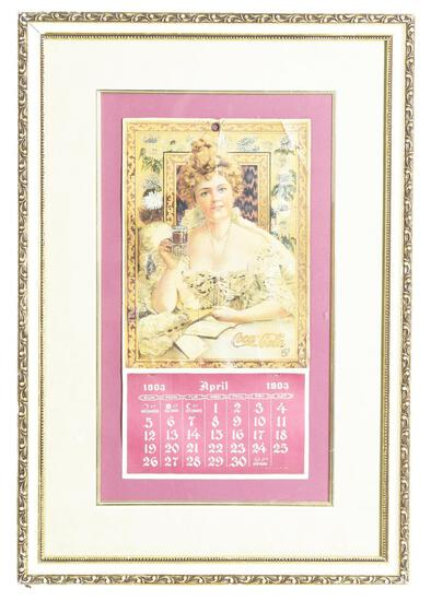 1903 Coca-Cola Calendar w/Hilda Clark