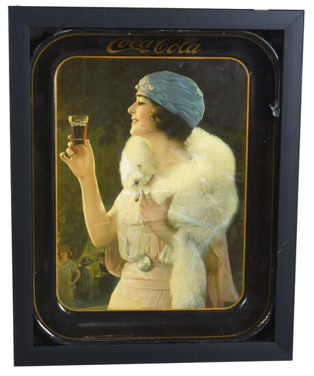 1925 Drink Coca-Cola Serving Tray with Party Girl