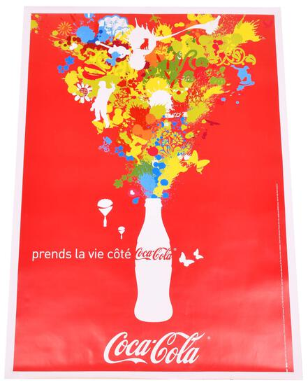 2006 French Coca-Cola Poster Mounted on Linen