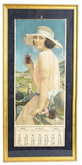 1922 Coca-Cola Baseball Girl Calendar