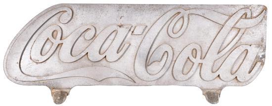 Coca-Cola Cast Aluminum Truck Sign