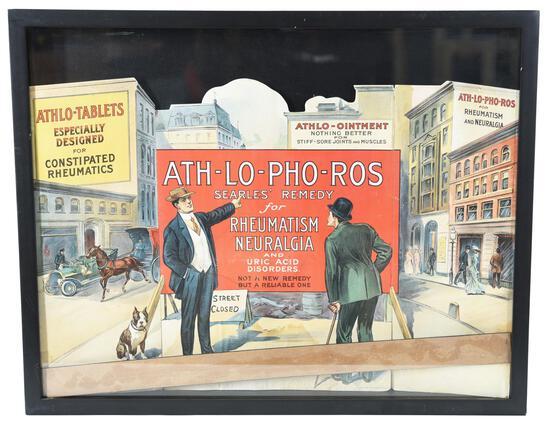 ATH-LO-PHO-ROS Tablets Cardboard Tri-Fold Sign