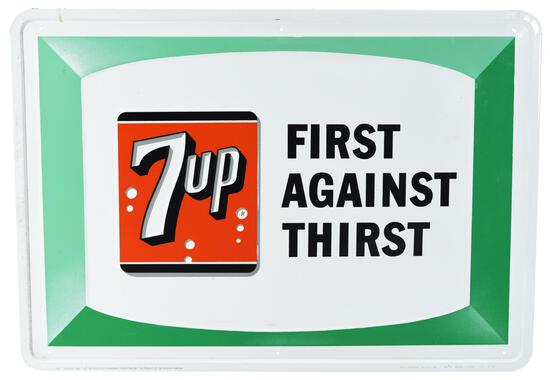 """7up """"First Against Thirst"""" Metal Sign"""