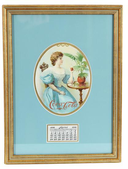 1898 Coca-Cola Calendar Trimmed