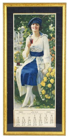 """1921 Coca-Cola """"Autumn Girl"""" Calendar"""