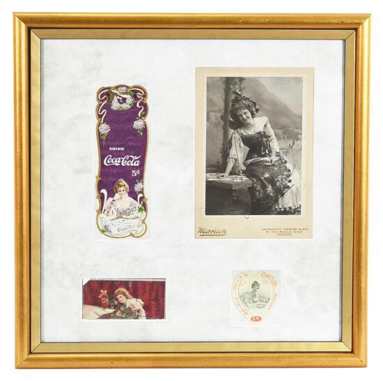 1903 Coca-Cola Book Mark, Cabinet Card & More w/Lillian