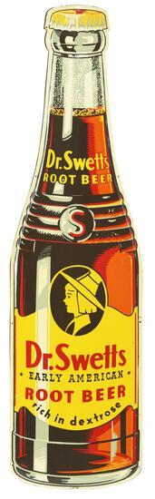 Dr. Swetts Root Beer Bottle Metal Sign