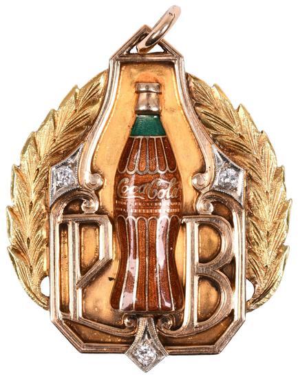 Coca-Cola 100,000 Gallon Club Gold Medallion